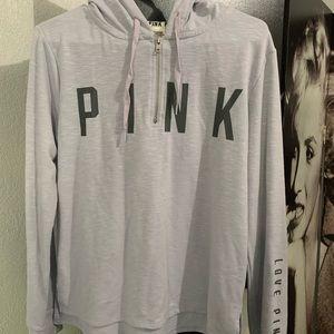 Pink light-grey sweater